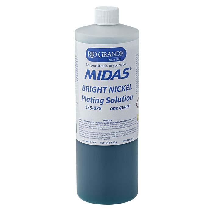 Midas Bright Nickel Plating Solution, Acid-Based