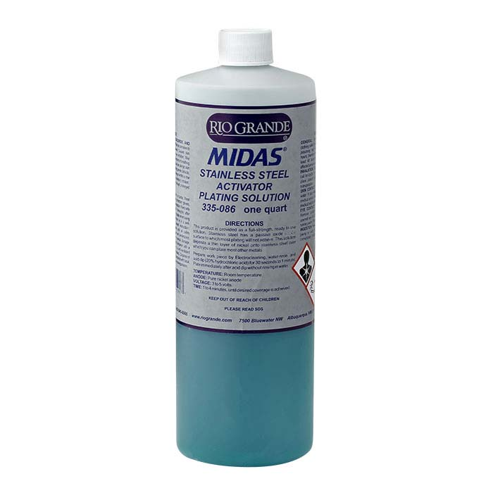 Midas Stainless Steel Activator Plating Solution, Acid-Based