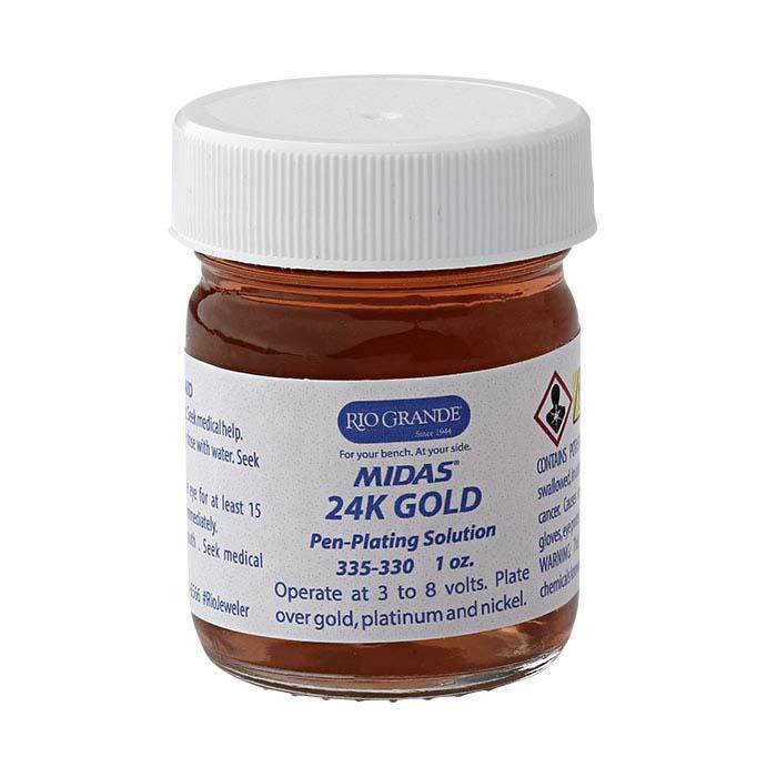 Midas 24K Yellow Gold Pen-Plating Solution, Acid-Based