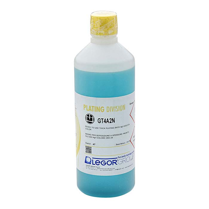 Legor® GT4A2N Heavy-Deposition Yellow Gold Plating Solution, Acid Based