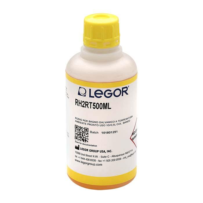 Legor® Super Bright White Room-Temperature Rhodium Plating Solution, Acid-Based
