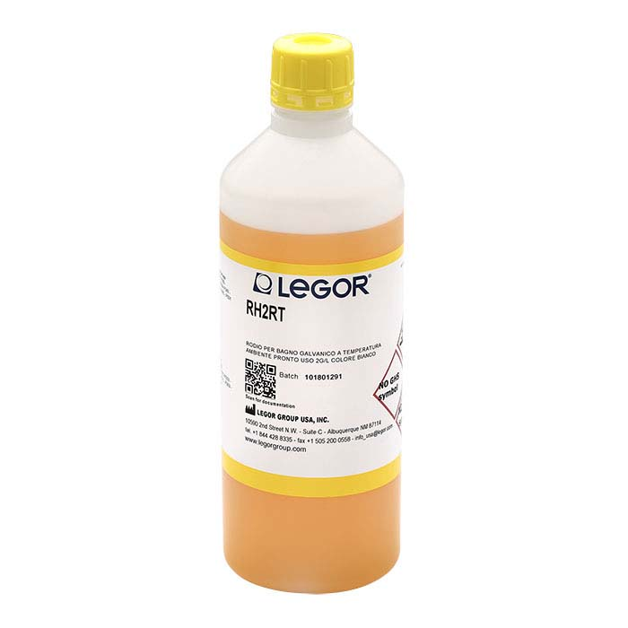 Legor® Super Bright White Room-Temperature Rhodium Plating Solution, Acid-Based