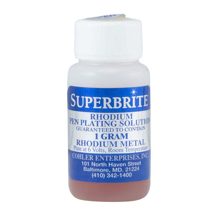 Cohler Superbrite Rhodium Pen-Plating Solution, Acid-Based