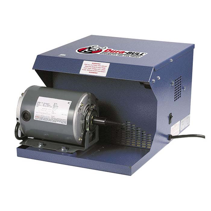 Dura-BULL® Single-Station Polishing Cabinet and Motor, 165 cfm