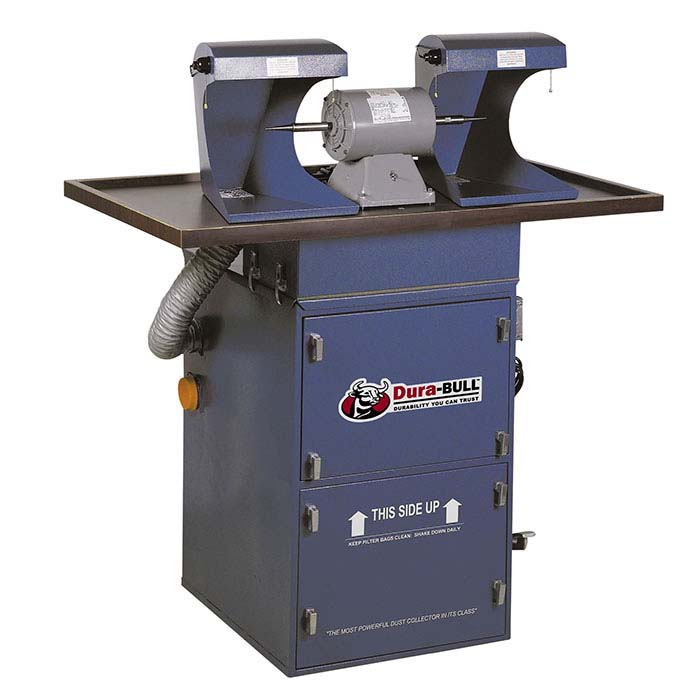 Dura-BULL® 1hp Cabinet Polishing and Grinding Unit, 1,000 cfm