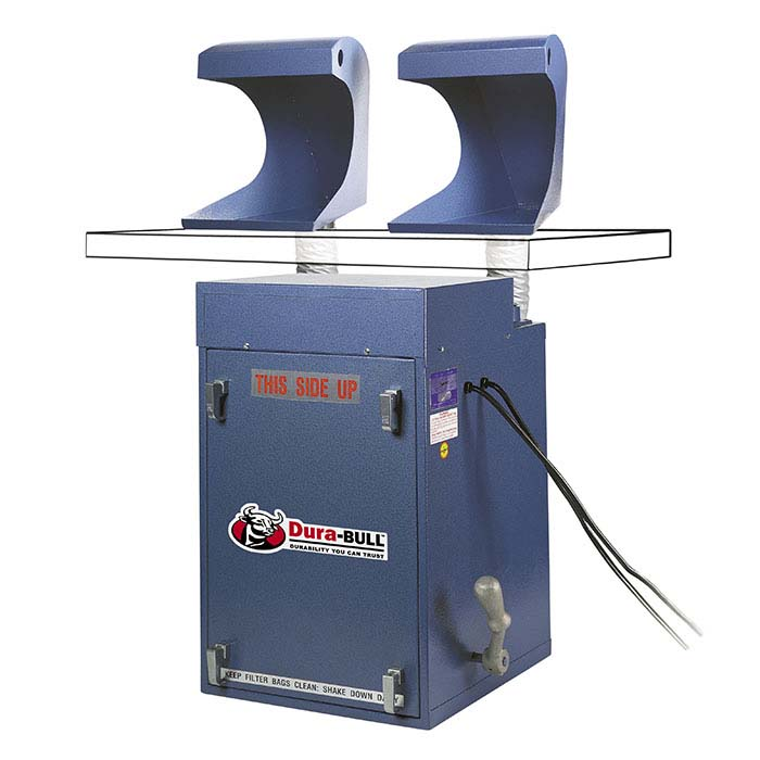 Dura-BULL Space-Saver 1/2hp Dust Collection System with Hoods, 400 cfm