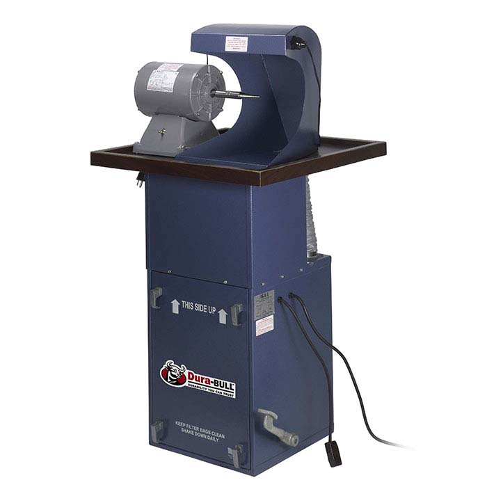 Dura-BULL® 1/2hp Space-Saver Polishing Unit with Open Hood, 400 cfm