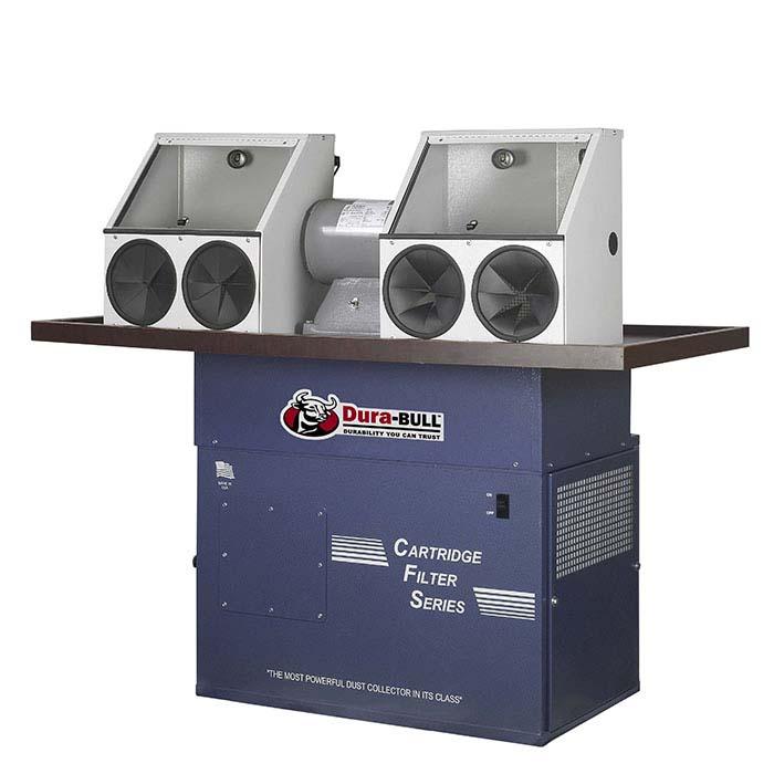 Dura-BULL® 1hp Enclosed Cartridge Polishing Station, 1,100 cfm