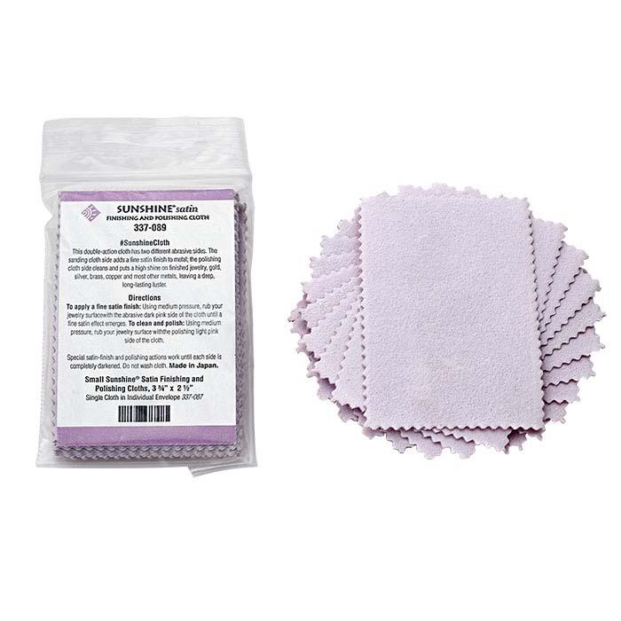 "Sunshine® Satin Cloth, 3-3/4"" x 2-1/2"", 25-Pack"
