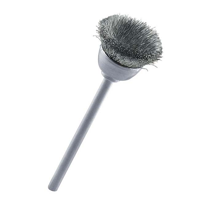 Stoddard Crimped-Wire Steel Cup Brush, Mounted