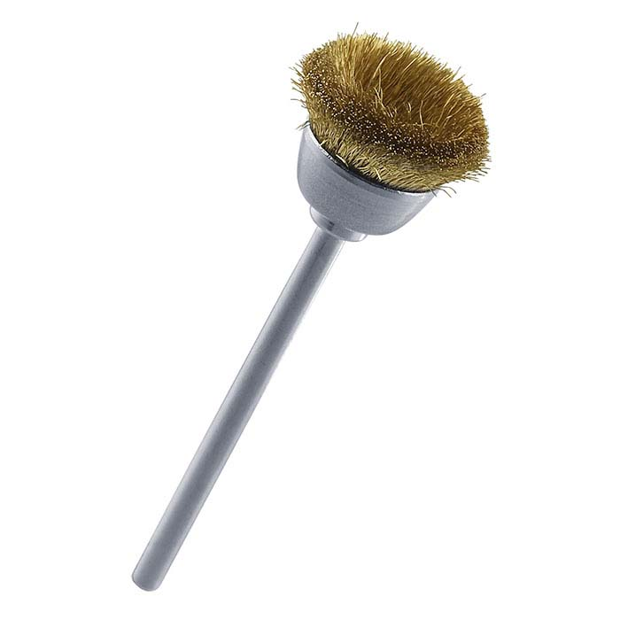 Stoddard Crimped-Wire Brass Cup Brush, Mounted