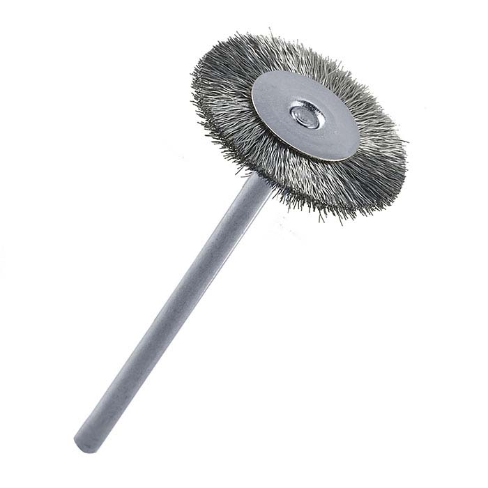 Stoddard Crimped-Wire Steel Brush, Mounted