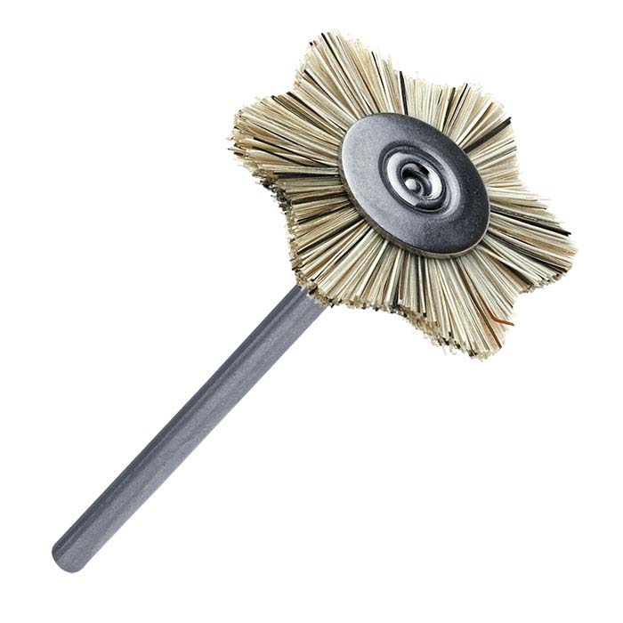 Medium Scallop-Edge Bristle Brush, Mounted