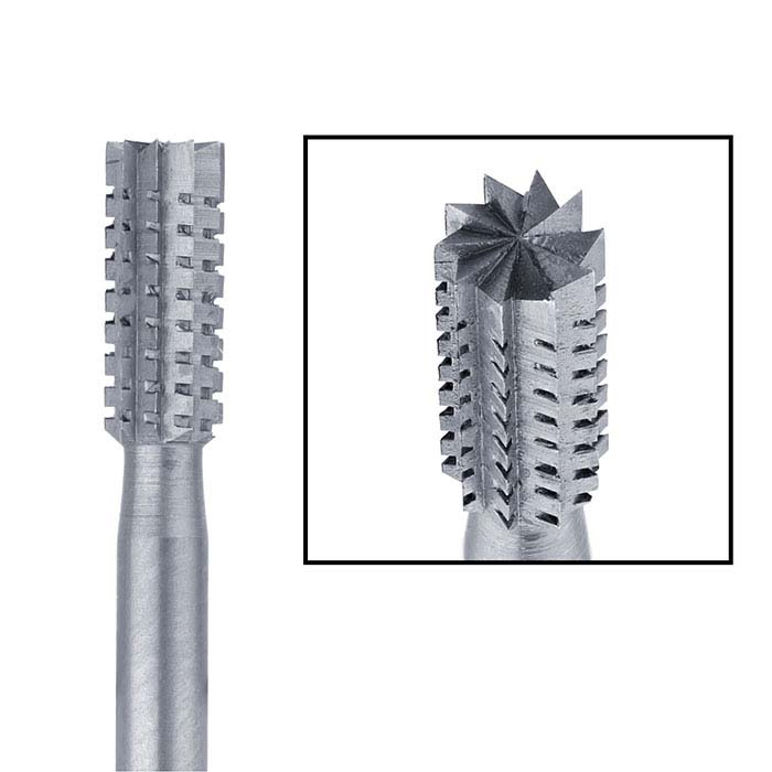 Busch® Tungsten Vanadium Cross-Cut Cylinder Burs
