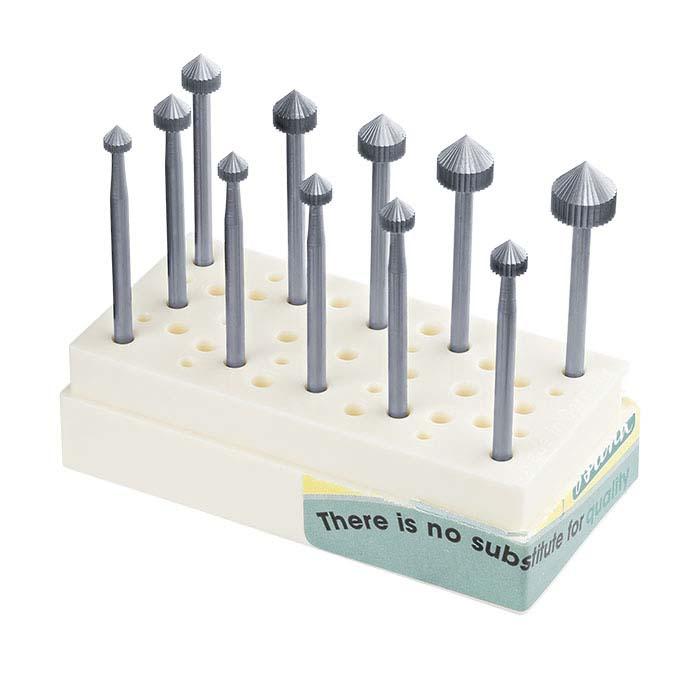 Busch® Tungsten Vanadium Stone-Setting Bur Set, 3.5–8mm