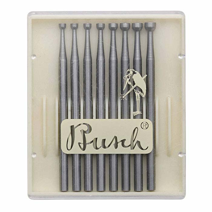 Busch® Tungsten Vanadium Concave Cutter Bur Set, 2.0–3.1mm