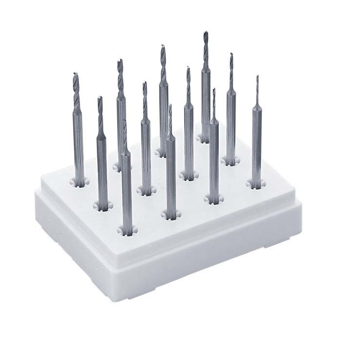 Dentsply Maillefer Vanadium 12-Piece Twist Drill Set