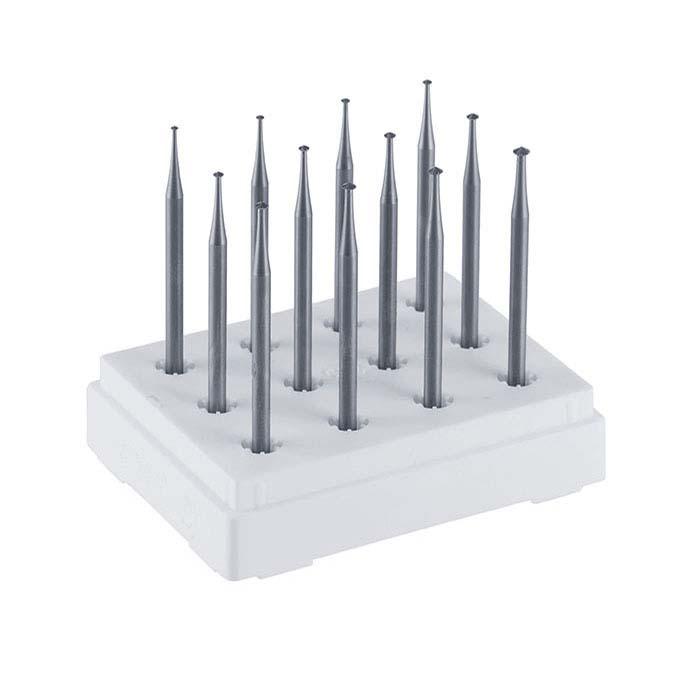 Dentsply Maillefer 12-Piece Shallow Angle Bearing Cutter Bur Set
