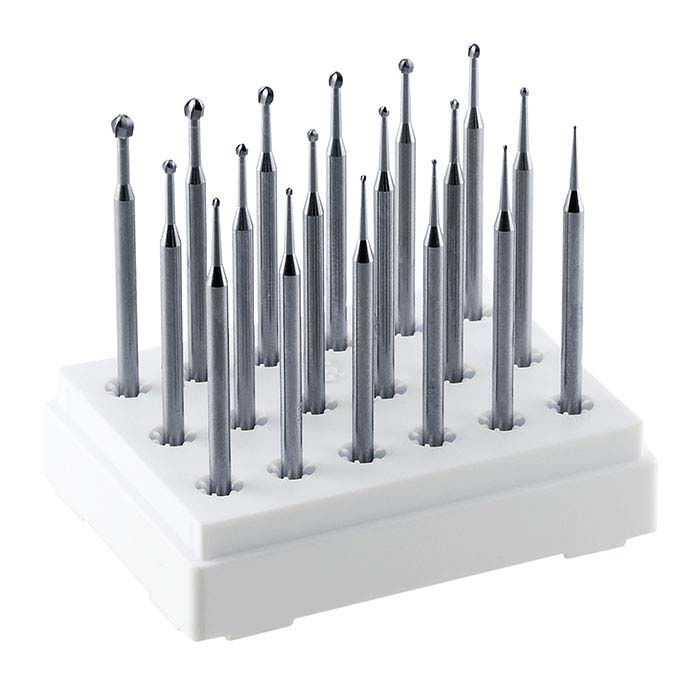 Dentsply Maillefer 18-Piece Round Carbide Bur Set