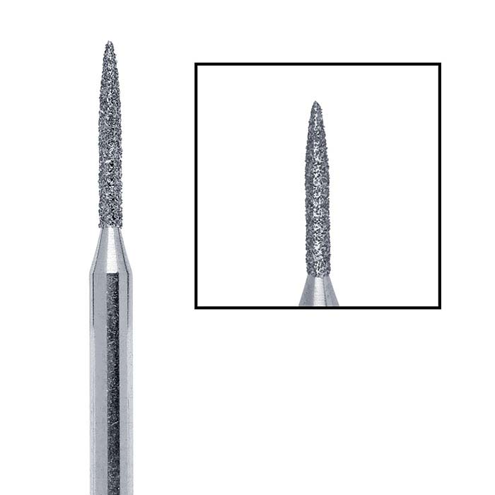 Edenta Diamond Flame Bur, 1.2mm