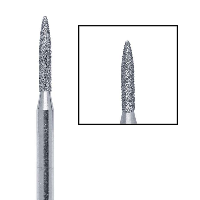 Edenta Diamond Flame Bur, 1.6mm