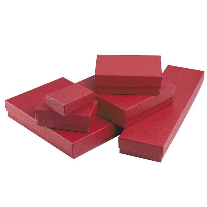 Brick Red Recycled-Paper Gift Box Assortment