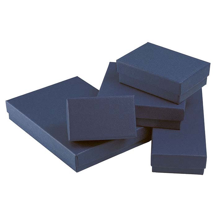 Navy Blue Recycled-Paper Gift Box Assortment