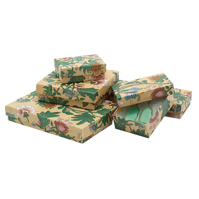 French Floral Recycled-Paper Gift Box Assortment