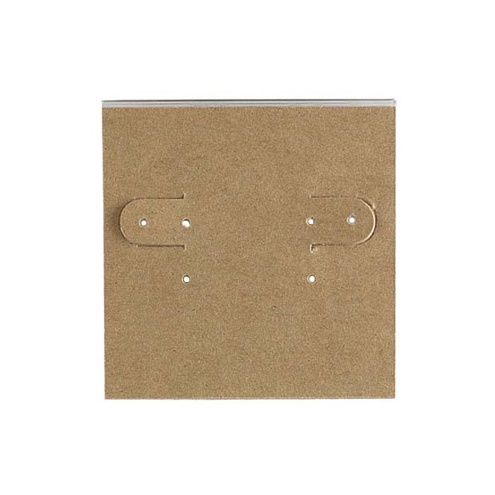 Kraft Paper-Covered Plastic Hanging Earring Card
