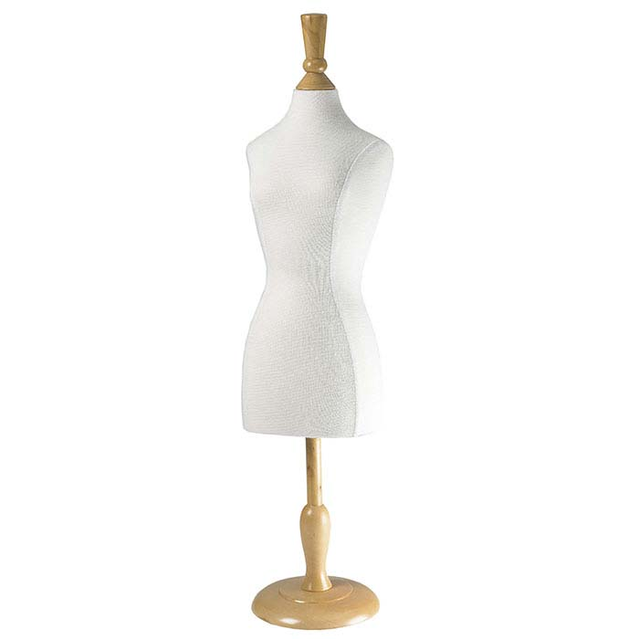 White Fabric Mannequin Display