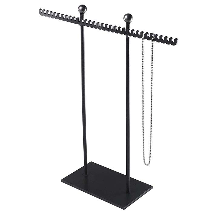 Natural-Finish Wrought Iron Multiple Chain and Necklace Stand Display