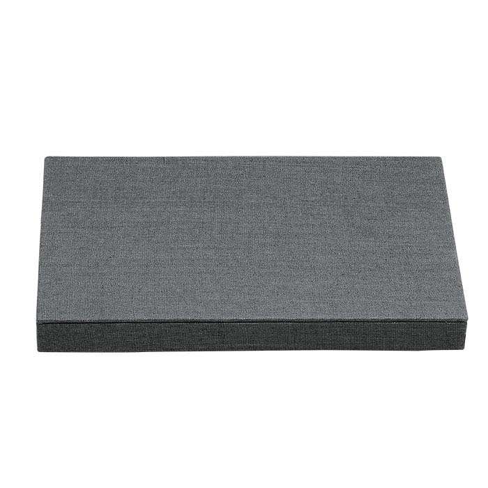 Gray Linen Riser Display