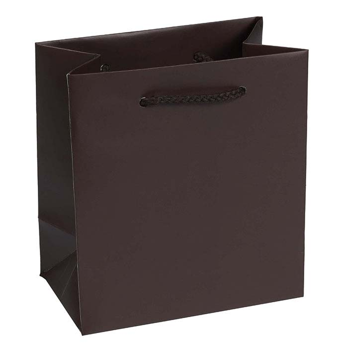 Chocolate Laminated Paper Euro-Tote