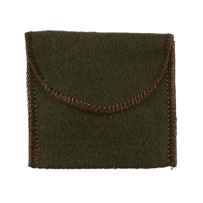 "Brown Kenized® Flannel Anti-Tarnish 2""W x 2""H Flap Pouch"