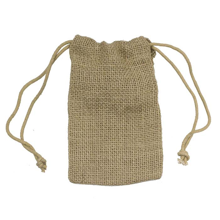"Natural Jute 3""W X 5""H Pouch"