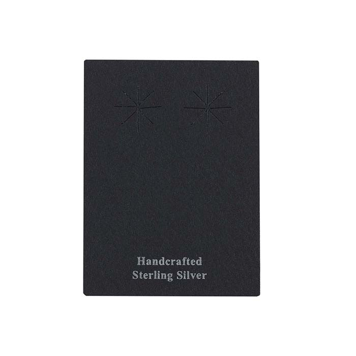 Black Matte Paper Printed Earring Card