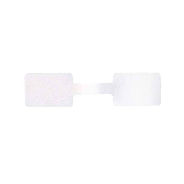 White Dumbbell Tear-Proof Adhesive Tags