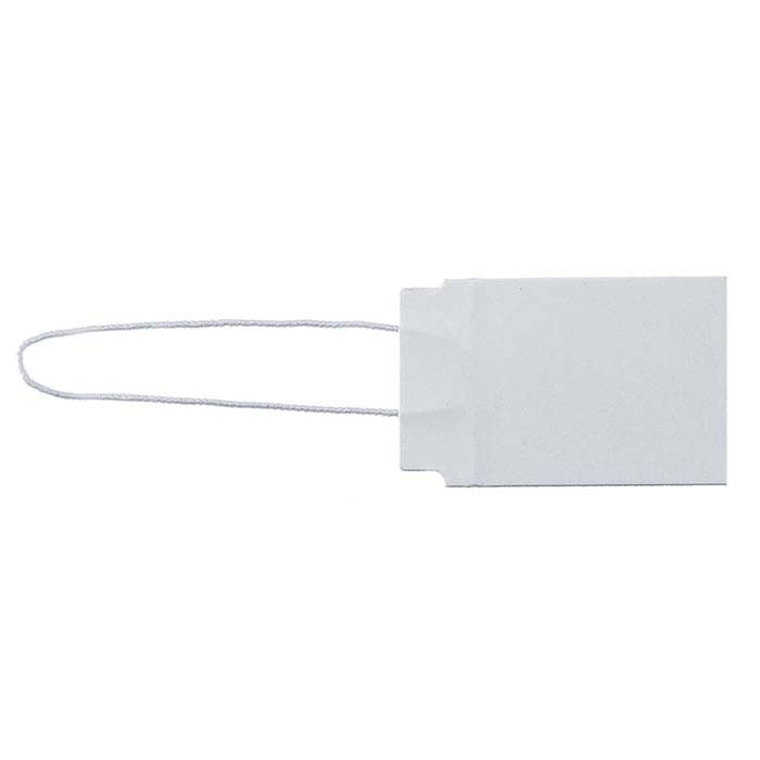 White Elastic String Tag