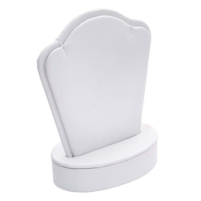 White Faux Leather Mini Pendant Display