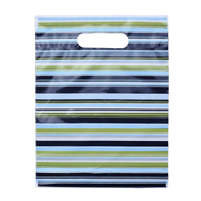 Plastic Striped Merchandise Bag