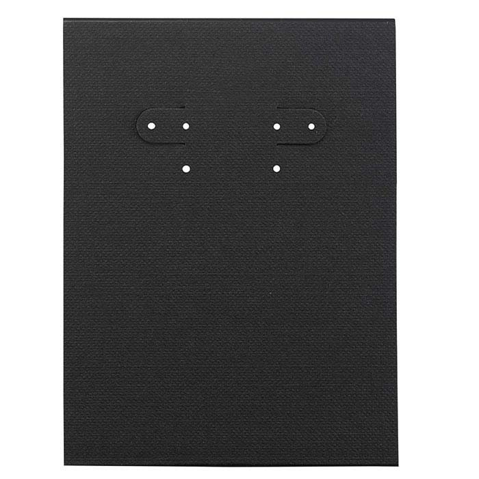 Black Paper-Covered Plastic Hanging Earring Card