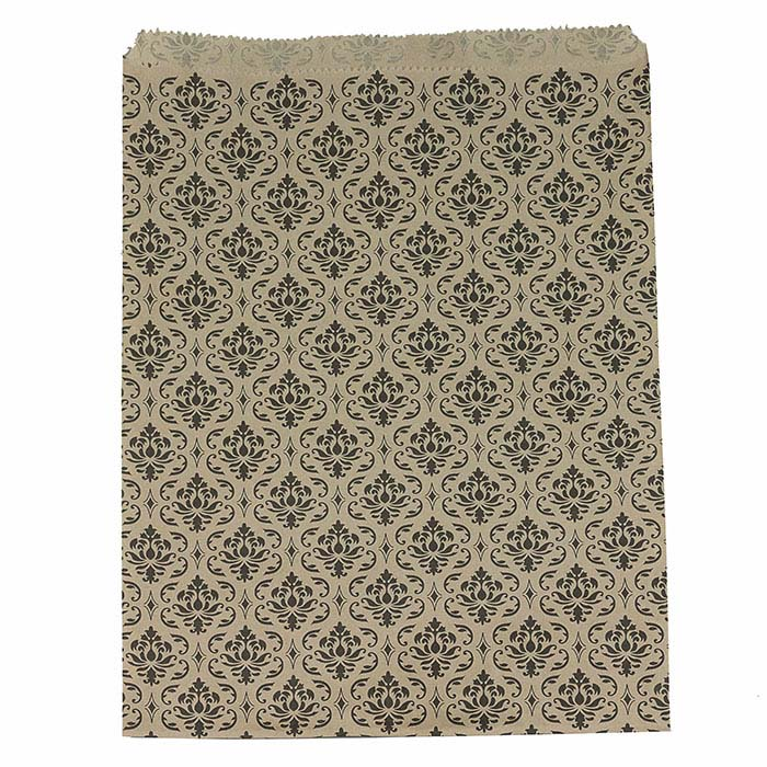Damask Print Paper Merchandise Bags