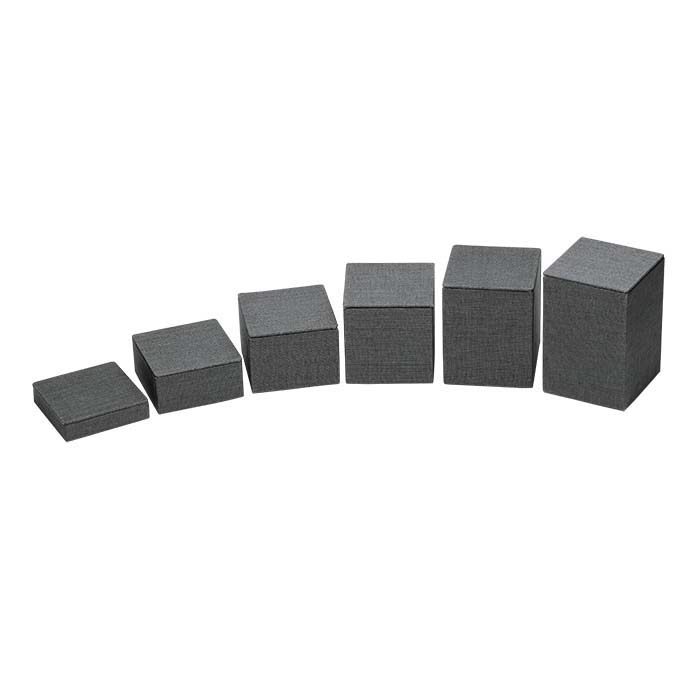 Gray Linen Square Block Riser Display Set