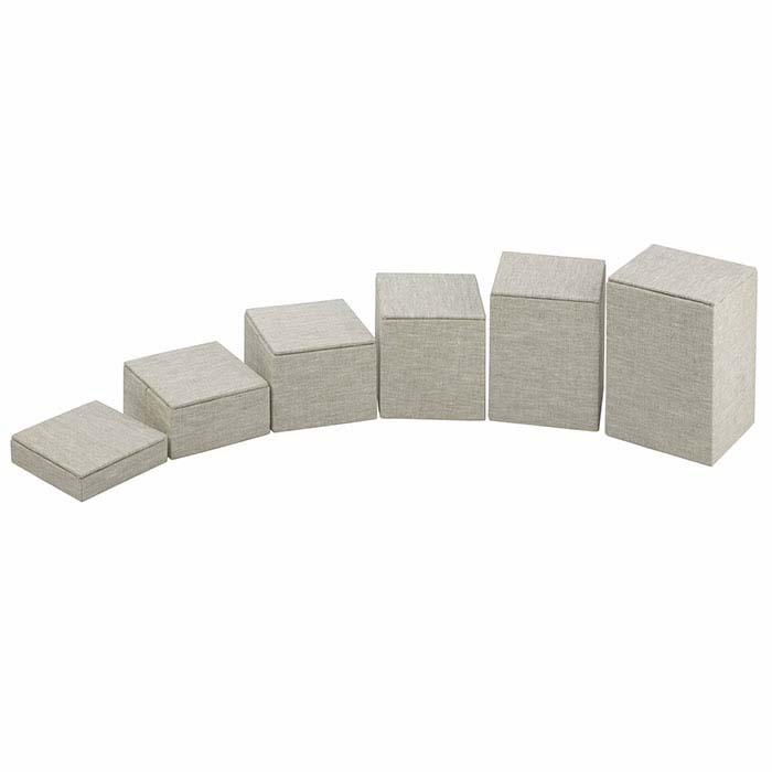 Natural Linen Square Block Riser Display Set