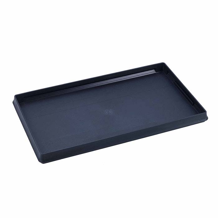 Black Plastic Stackable Full-Size Tray