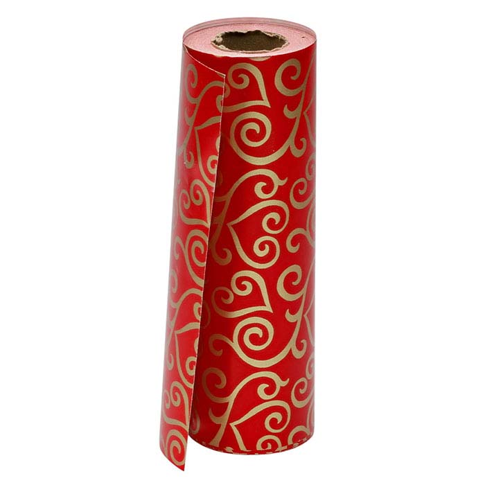 Scrolled Hearts Gift Wrapping Paper