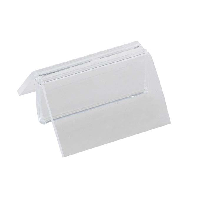 Clear Acrylic Pinch-Slot Jewelry Card Holder