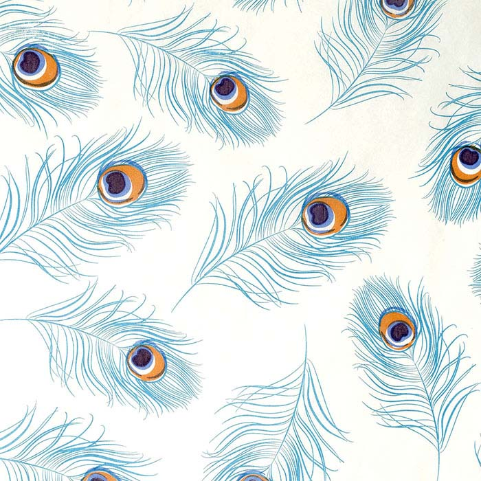 Peacock Feathers Tissue Paper, 200 Sheets