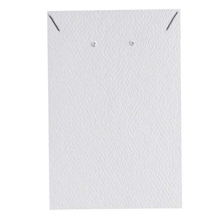 White Pendant and Earring Presentation Card Insert
