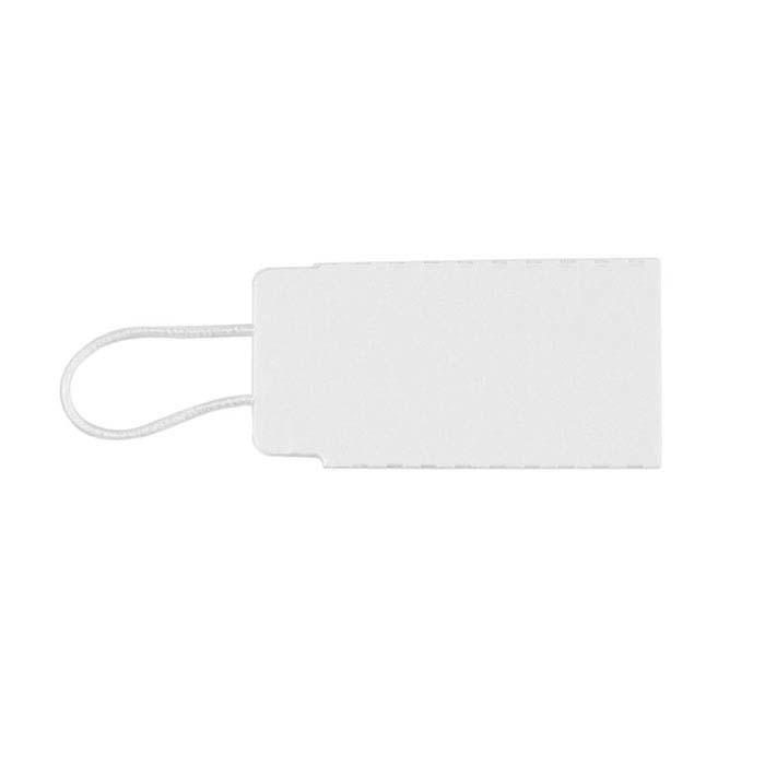 White Elastic String Tag
